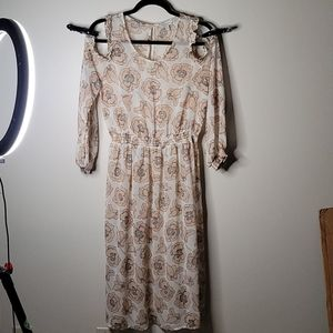Lucky Brand Size S Sheer Maxi Dress Size S